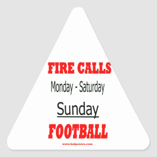 Sunday_Football Pegatina Triangular