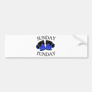 Sunday Funday2 Bumper Stickers