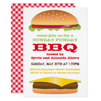 Sunday Funday BBQ Cheeseburger Card