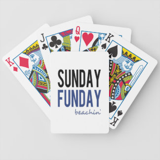 Sunday Funday Beachin' Bicycle Playing Cards