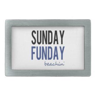 Sunday Funday Beachin' Rectangular Belt Buckle