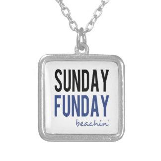 Sunday Funday Beachin' Silver Plated Necklace