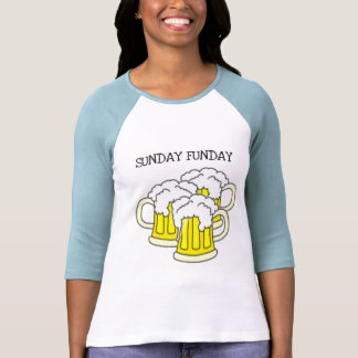 SUNDAY FUNDAY...BEER STEIN PRINT SHIRT