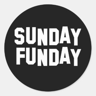 Sunday Funday Classic Round Sticker