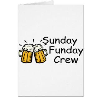 Sunday Funday Crew Beer Card