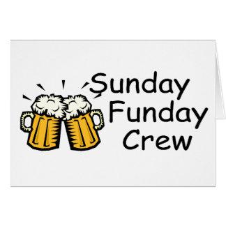 Sunday Funday Crew (Beer) Greeting Card