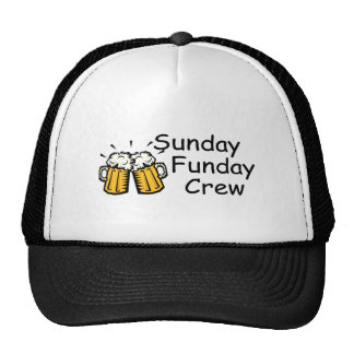 Sunday Funday Crew Beer Mesh Hats