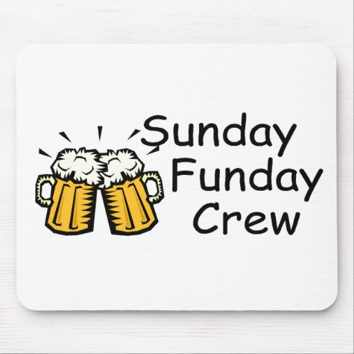 Sunday Funday Crew Beer Mouse Pads