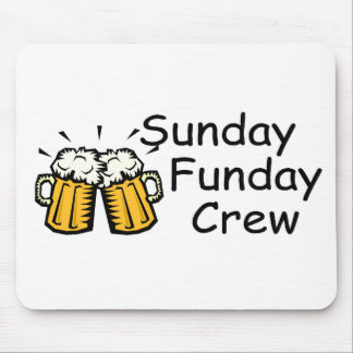 Sunday Funday Crew Beer Mouse Pad