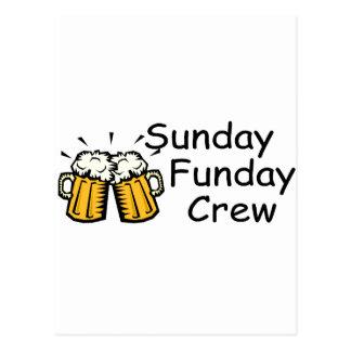Sunday Funday Crew (Beer) Postcard