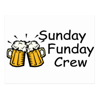 Sunday Funday Crew Beer Postcard