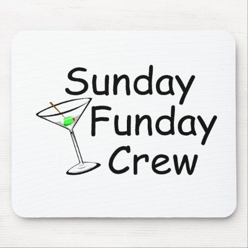 Sunday Funday Crew Martini Mouse Pad