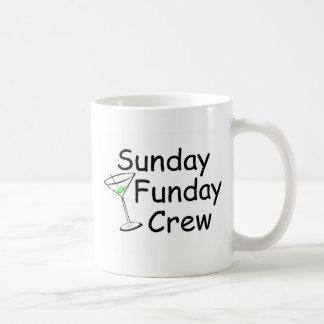 Sunday Funday Crew Martini Coffee Mug