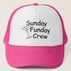 Sunday Funday Crew Martini Trucker Hat