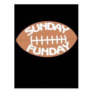 Sunday funday football postcard