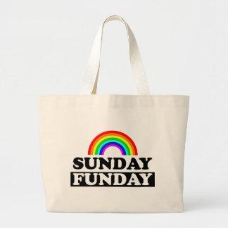 Sunday Funday Jumbo Tote Bag