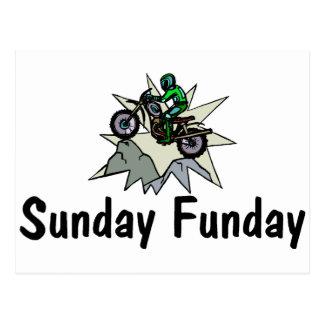 Sunday Funday Motorcycle Postcard