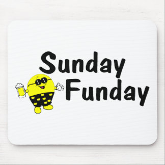 Sunday Funday Smiley Mouse Pad
