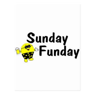Sunday Funday Smiley Postcard