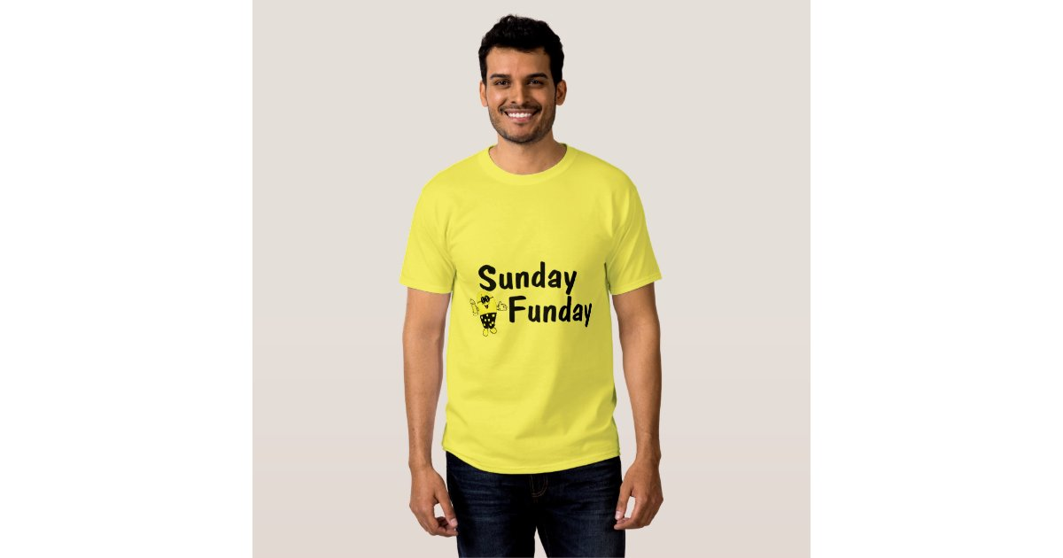 sunday funday smiley t shirt zazzle. Black Bedroom Furniture Sets. Home Design Ideas