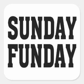 Sunday Funday Square Sticker