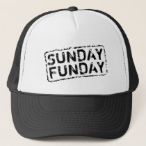 SUNDAY FUNDAY vintage trucker hat