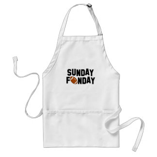 Sunday Funday with football Adult Apron