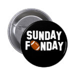 Sunday Funday with football Button