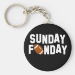 Sunday Funday with football Key Chains