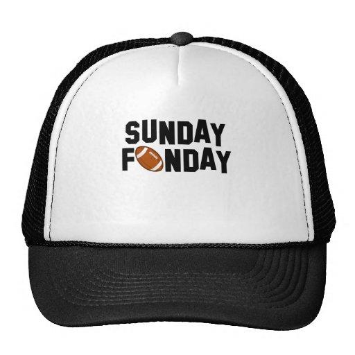 Sunday Funday with football Mesh Hats