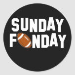 Sunday Funday with football Sticker
