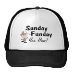 Sunday Funday Yee Haw Trucker Hats