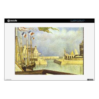 "Sunday in Port-en-Bessin by Georges Seurat 13"" Laptop Skins"