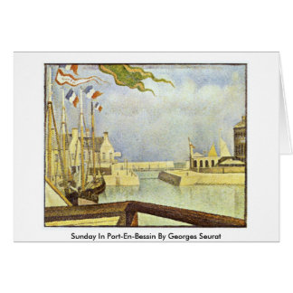 Sunday In Port-En-Bessin By Georges Seurat Greeting Card
