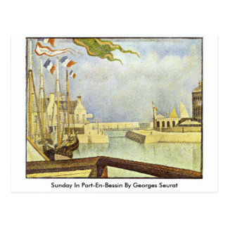 Sunday In Port-En-Bessin By Georges Seurat Postcard