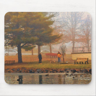 Sunday in the Park (oil on canvas digital simulat) Mousepad