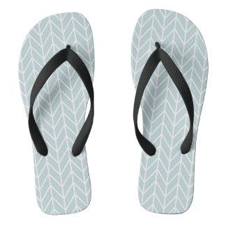 #Sunday light blue stripes pattern Flip Flops