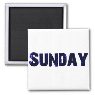 Sunday Refrigerator Magnet