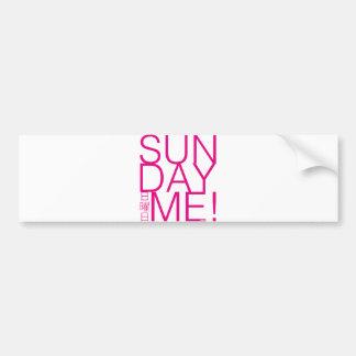 sunday ME pink Bumper Sticker