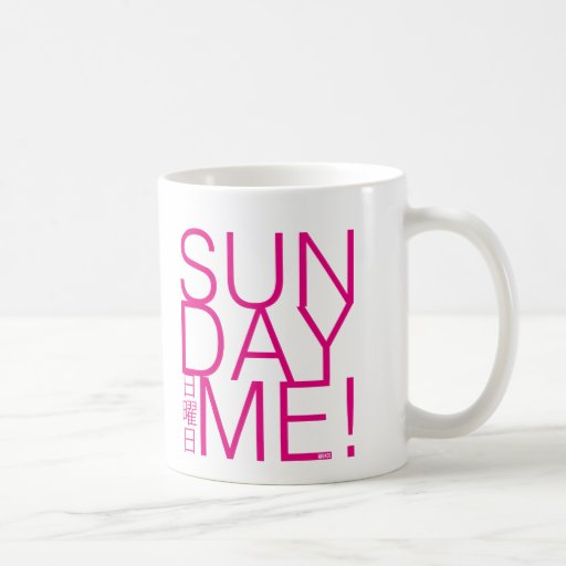 sunday ME pink Coffee Mugs