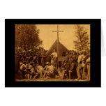 Sunday Morning Catholic Mass 1861 Greeting Card