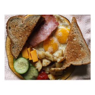 Sunday Morning Ham and Eggs Pop Art Postcard