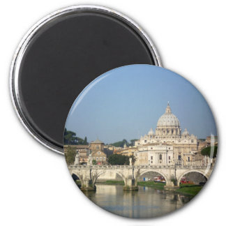 Sunday Morning in Rome 2 Inch Round Magnet