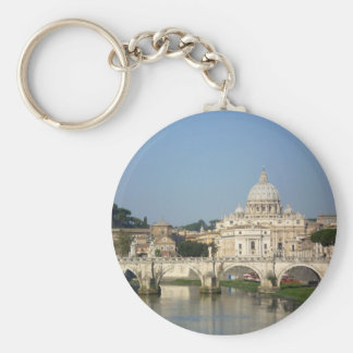 Sunday Morning in Rome Basic Round Button Keychain