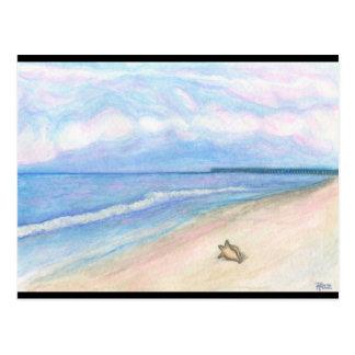 Sunday Morning on Flagler Beach Postcard