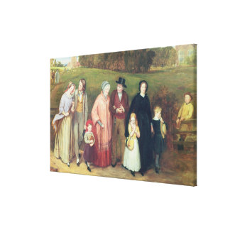 Sunday Morning - The Walk from Church, 1846 Canvas Print