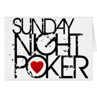 Sunday Night Poker Card