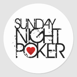 Sunday Night Poker Classic Round Sticker