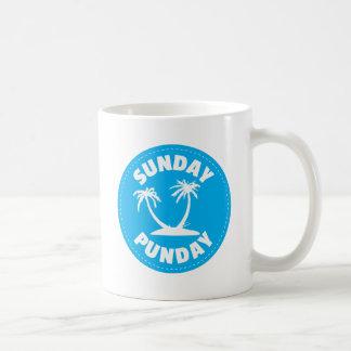 Sunday Punday Palm Tree Coffee Mug