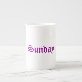 Sunday Radiant Orchid China Mug